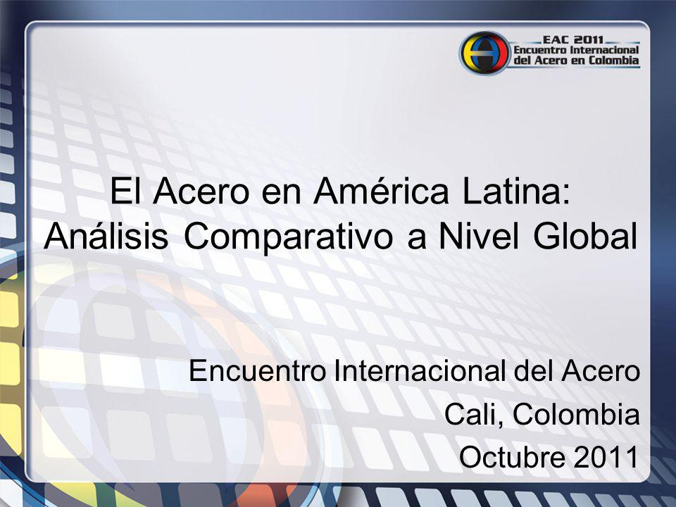 El Acero en América Latina: Análisis Comparativo a Nivel Global