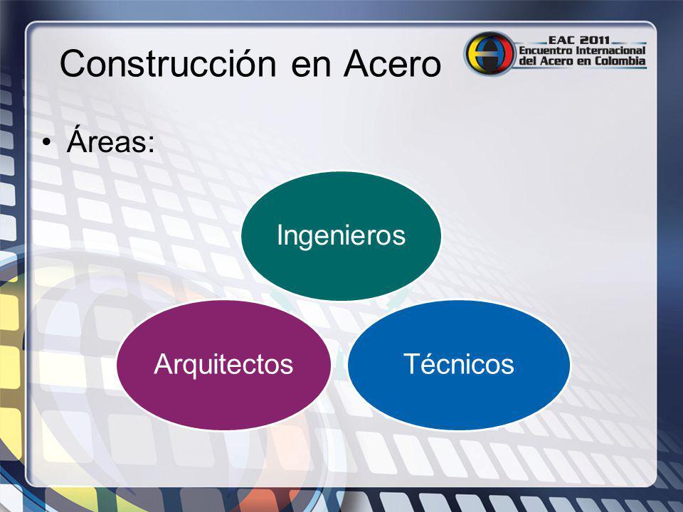 Construcción en Acero Áreas: Ingenieros Técnicos Arquitectos