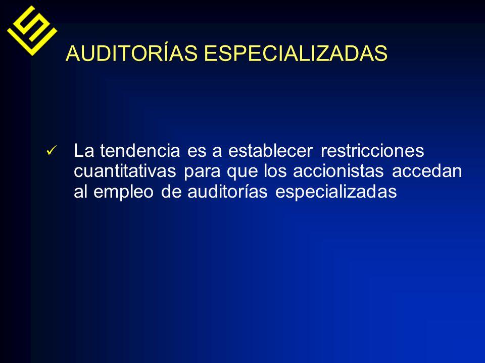 AUDITORÍAS ESPECIALIZADAS