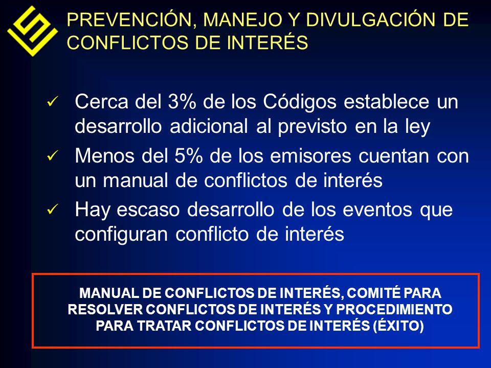 PREVENCIÓN, MANEJO Y DIVULGACIÓN DE CONFLICTOS DE INTERÉS