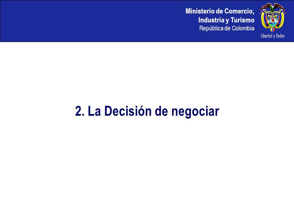 2. La Decisión de negociar