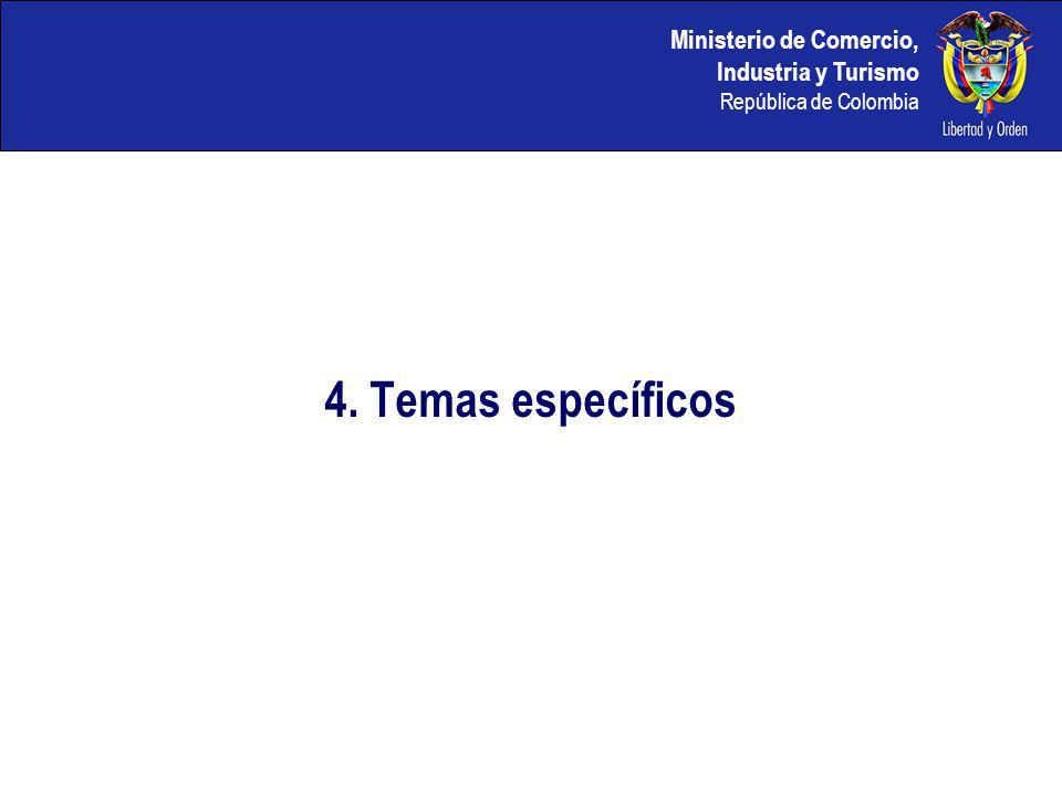 4. Temas específicos