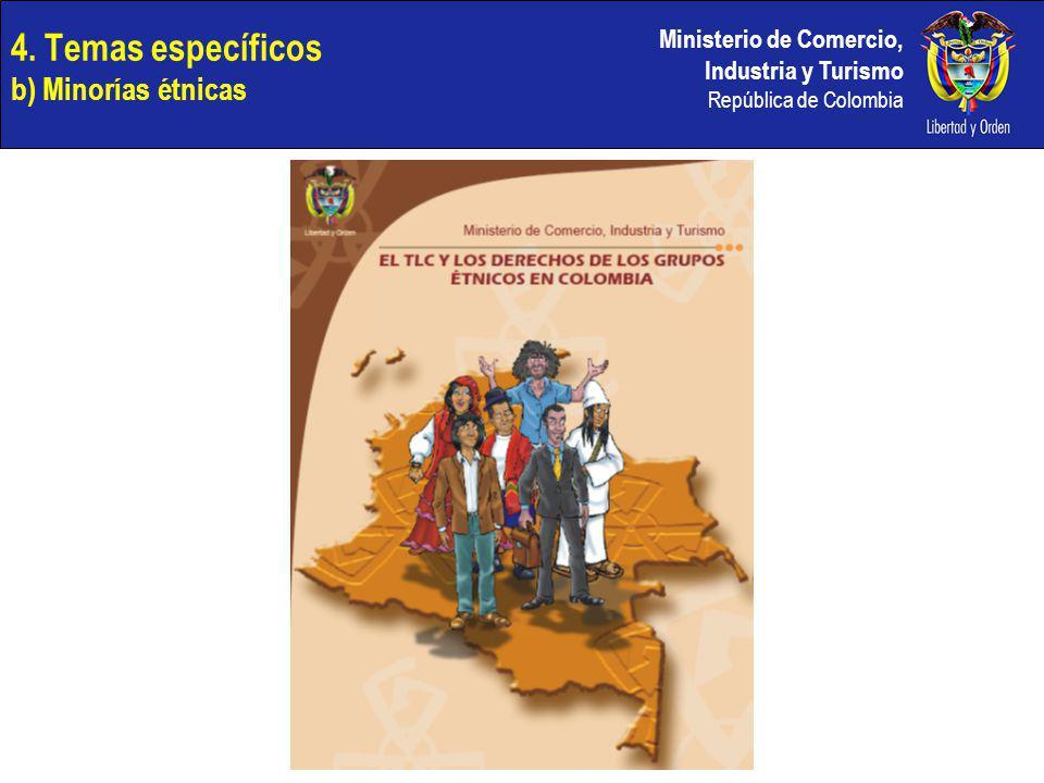 4. Temas específicos b) Minorías étnicas
