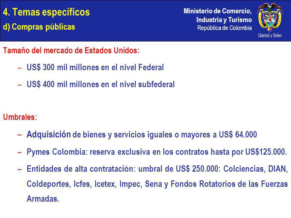 4. Temas específicos d) Compras públicas