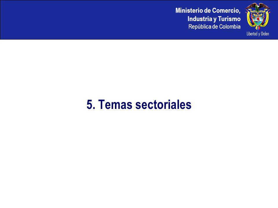 5. Temas sectoriales