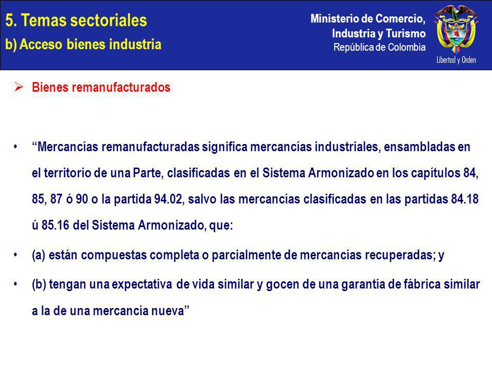 5. Temas sectoriales b) Acceso bienes industria