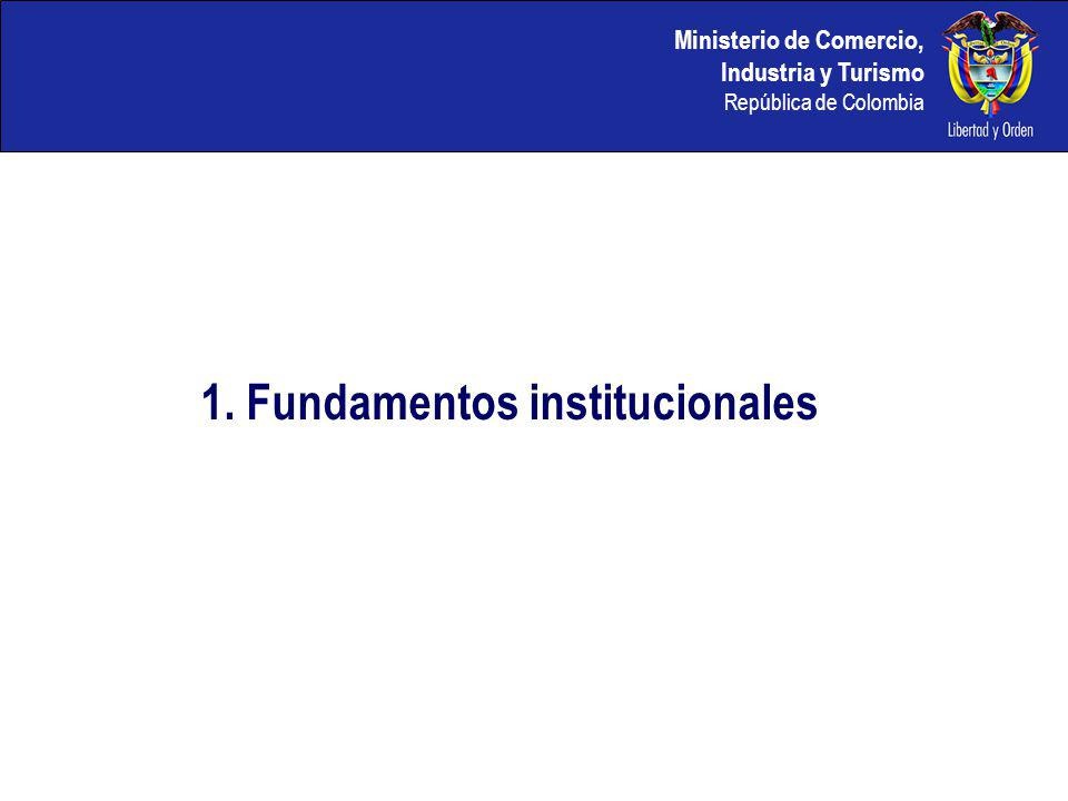 1. Fundamentos institucionales