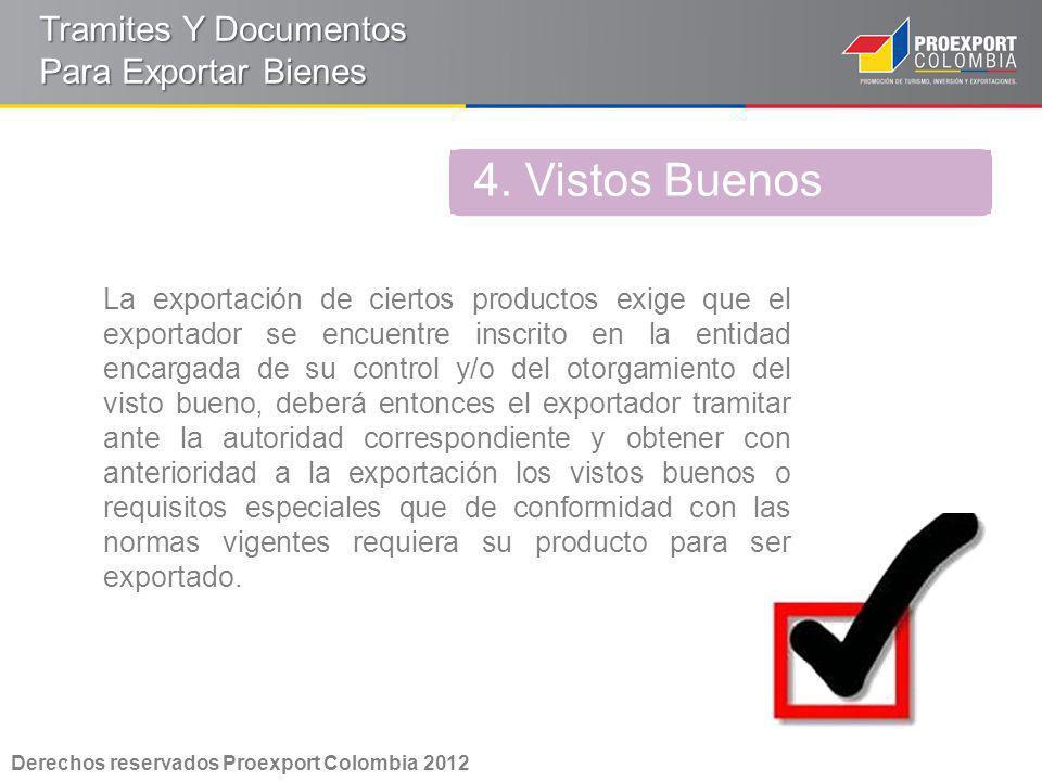 4. Vistos Buenos Tramites Y Documentos Para Exportar Bienes