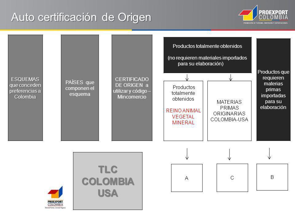 Auto certificación de Origen