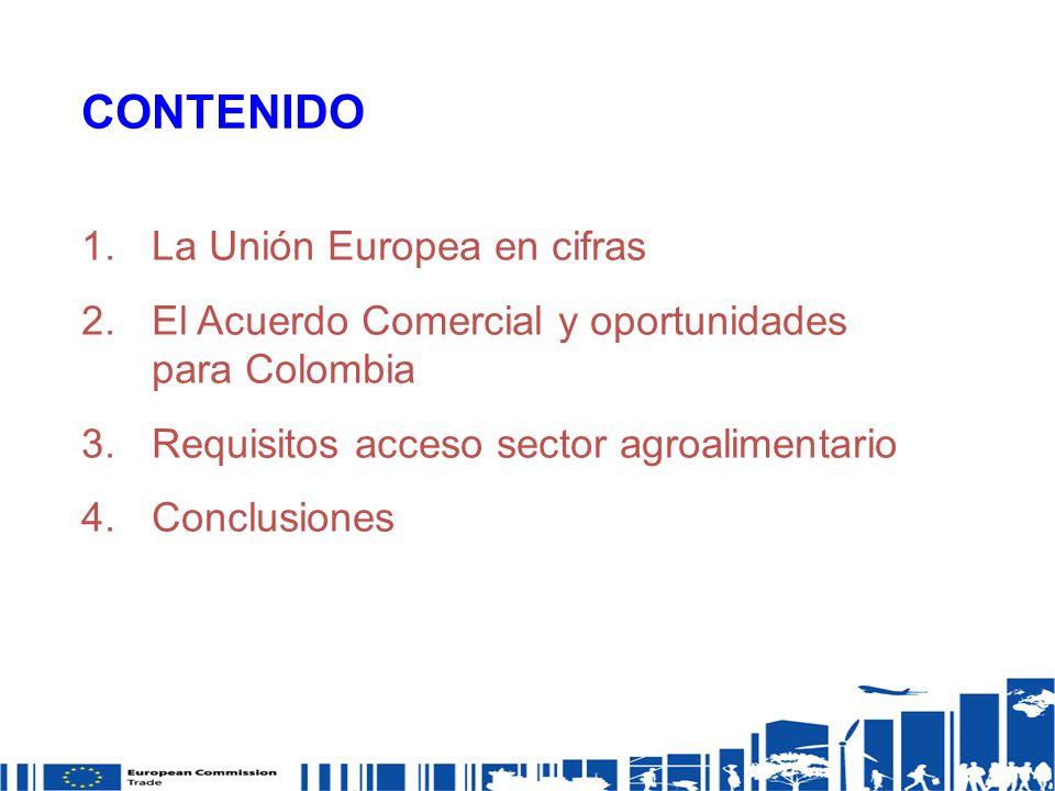CONTENIDO La Unión Europea en cifras