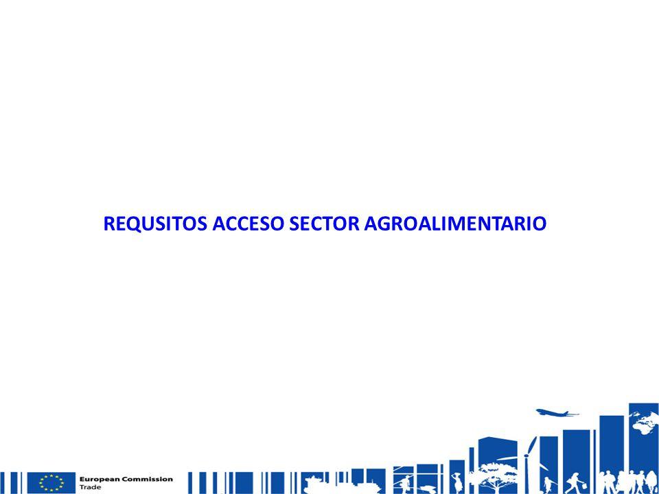 REQUSITOS ACCESO SECTOR AGROALIMENTARIO
