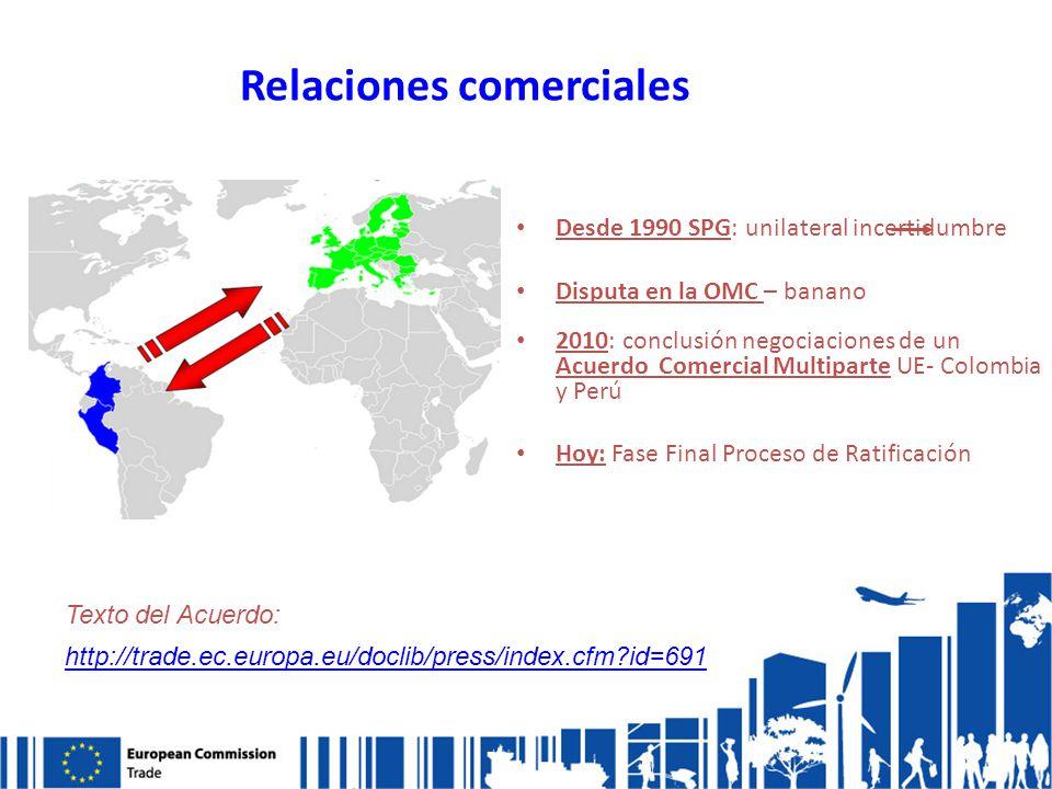 Relaciones comerciales