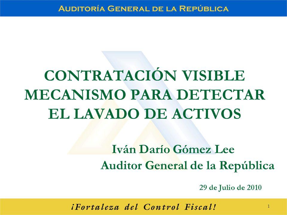 CONTRATACIÓN VISIBLE MECANISMO PARA DETECTAR EL LAVADO DE ACTIVOS