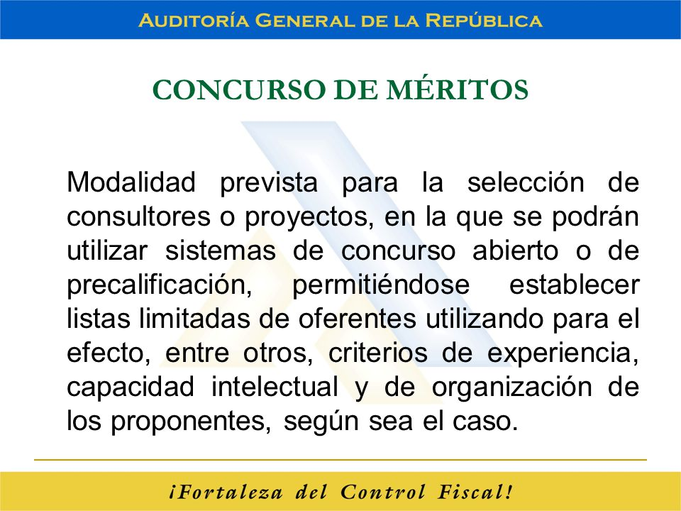 CONCURSO DE MÉRITOS
