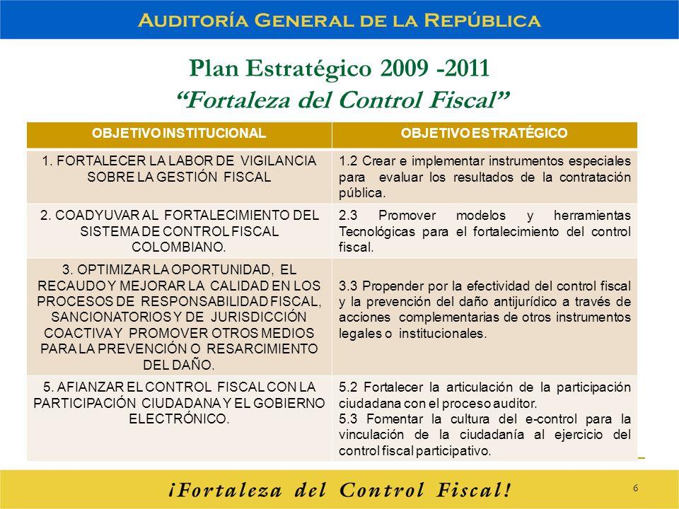 Plan Estratégico 2009 -2011 Fortaleza del Control Fiscal