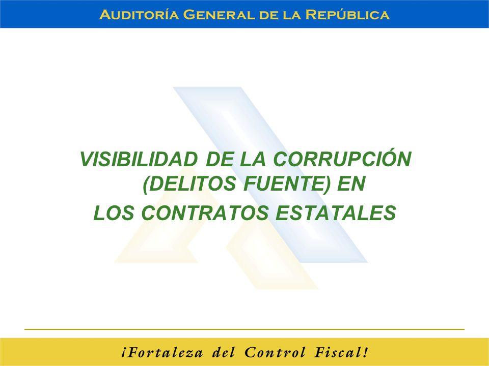 VISIBILIDAD DE LA CORRUPCIÓN (DELITOS FUENTE) EN