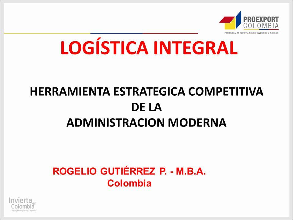 LOGÍSTICA INTEGRAL HERRAMIENTA ESTRATEGICA COMPETITIVA DE LA