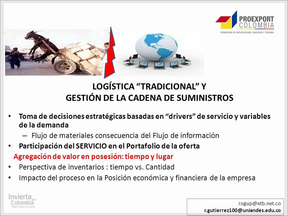 LOGÍSTICA TRADICIONAL Y GESTIÓN DE LA CADENA DE SUMINISTROS