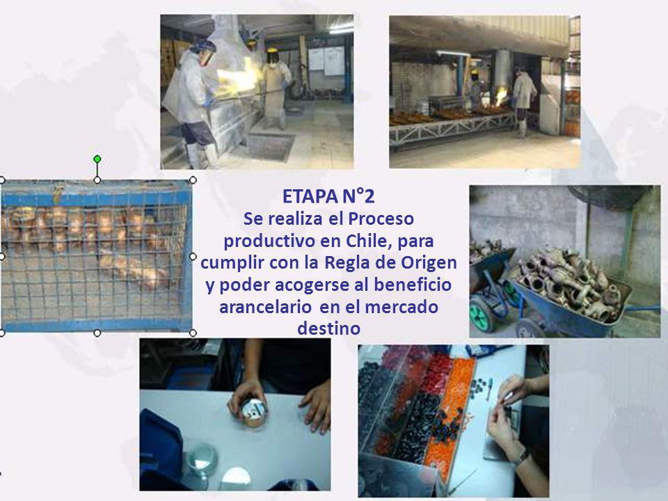 Se realiza el Proceso productivo en Chile, para