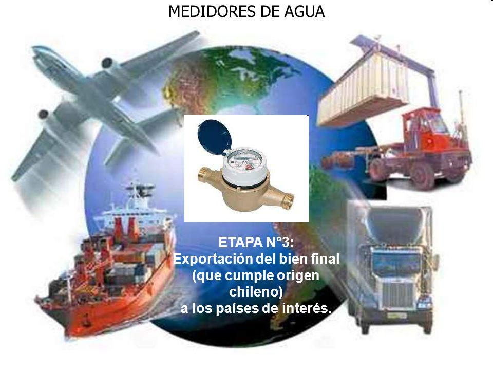 Exportación del bien final (que cumple origen chileno)
