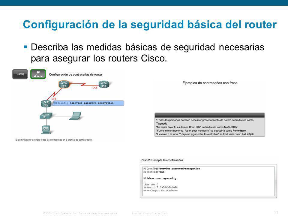Configuración de la seguridad básica del router