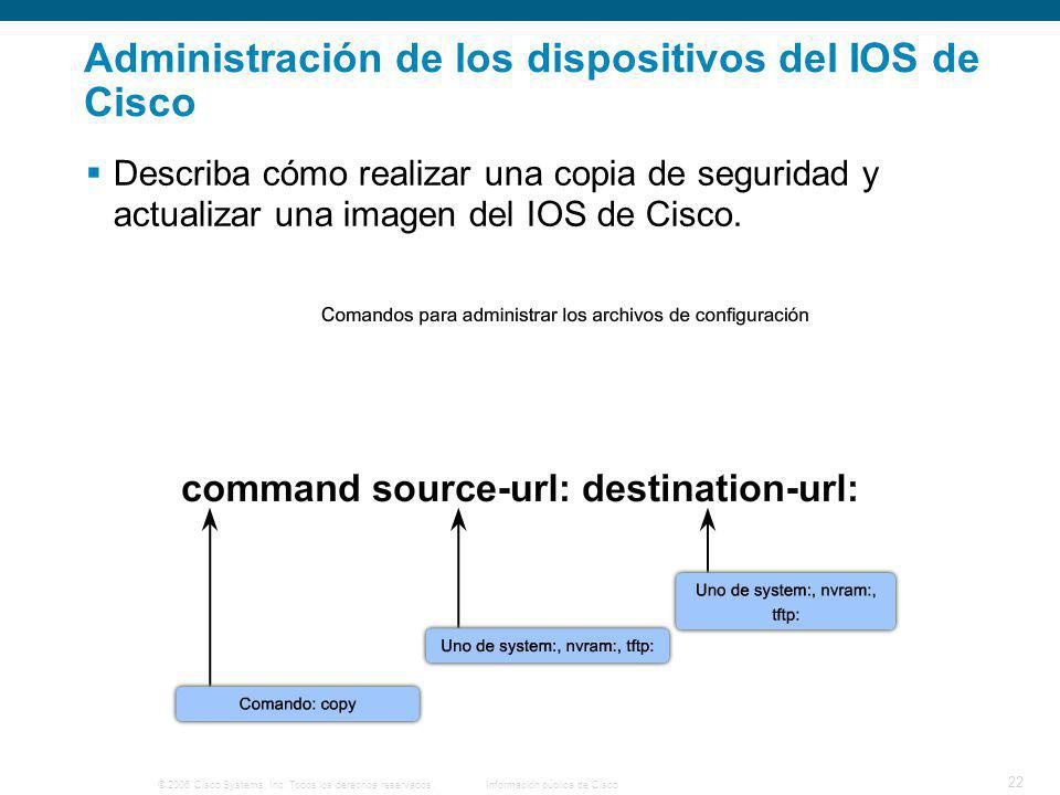 Administración de los dispositivos del IOS de Cisco