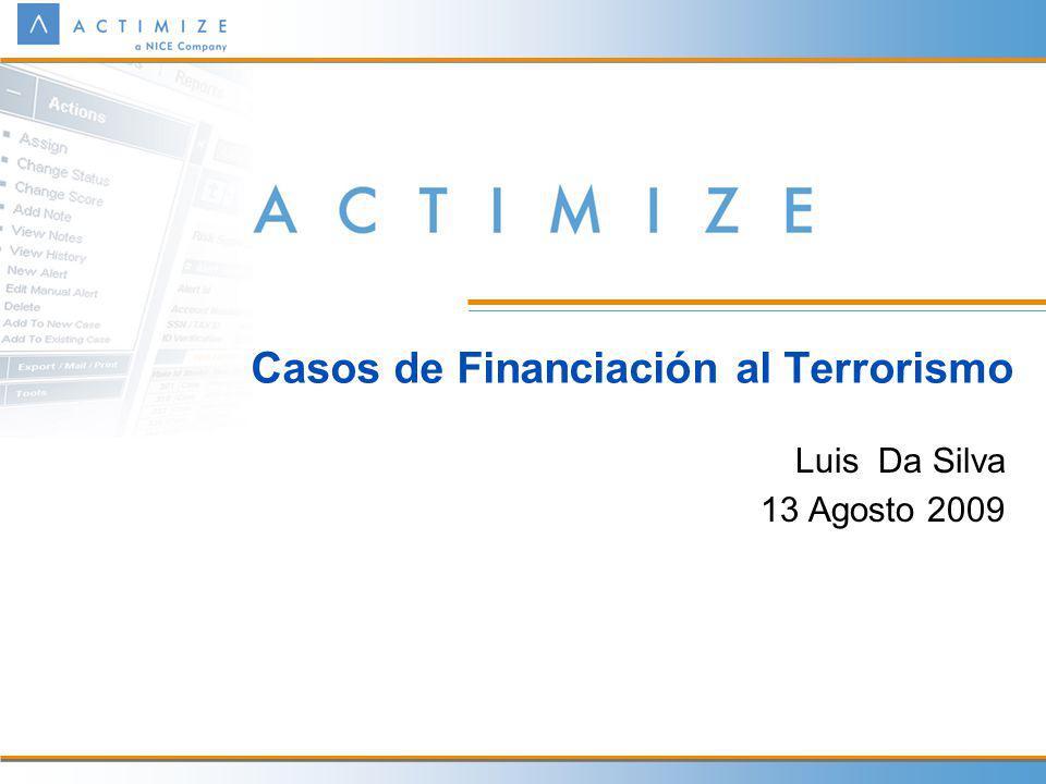 Casos de Financiación al Terrorismo