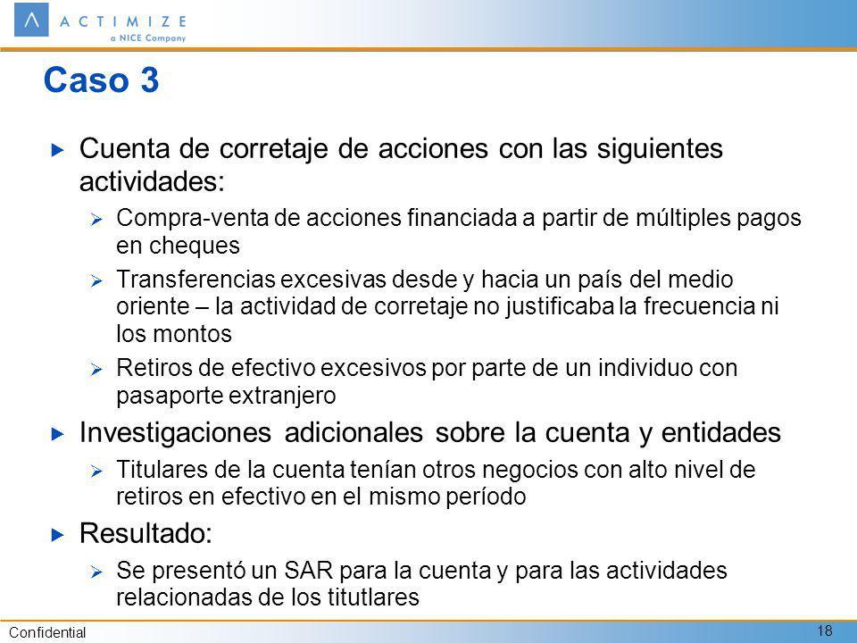 Caso 3 Cuenta de corretaje de acciones con las siguientes actividades: