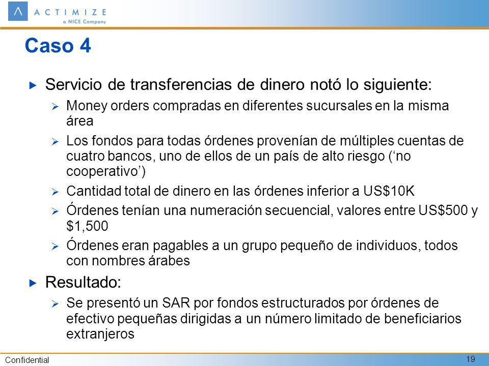 Caso 4 Servicio de transferencias de dinero notó lo siguiente: