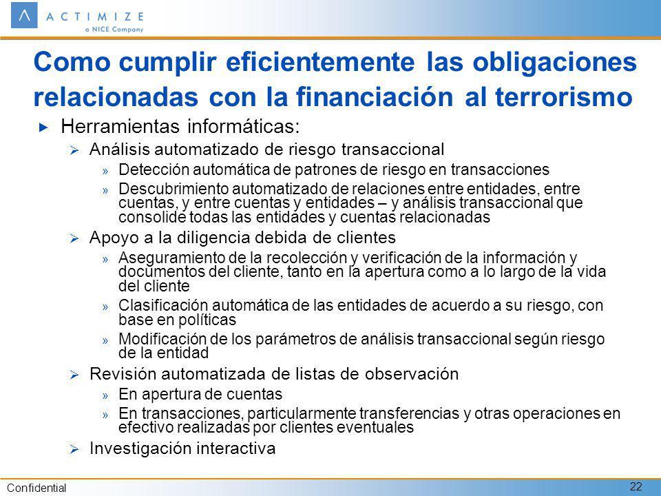 Como cumplir eficientemente las obligaciones relacionadas con la financiación al terrorismo
