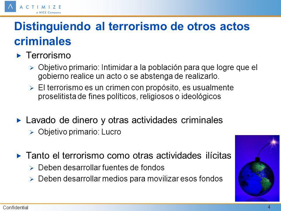 Distinguiendo al terrorismo de otros actos criminales