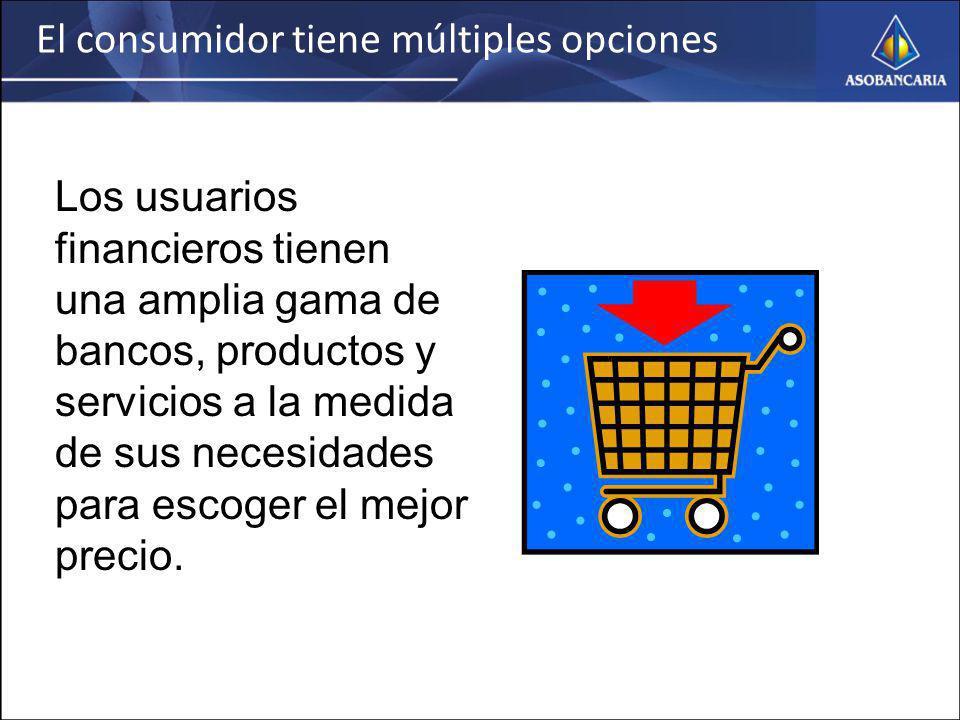 El consumidor tiene múltiples opciones