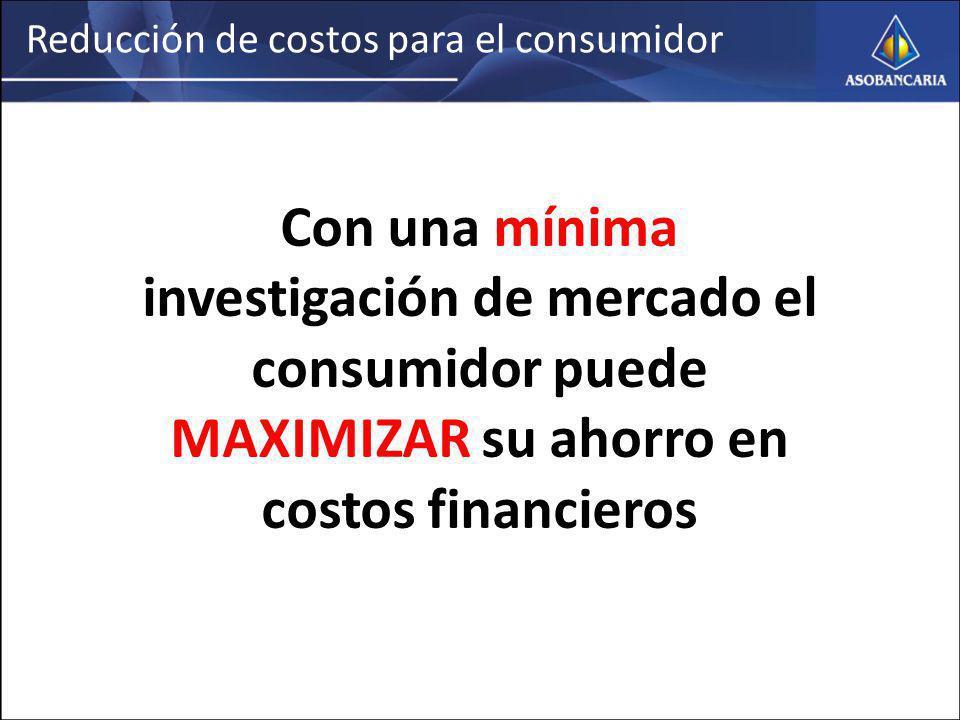 Reducción de costos para el consumidor