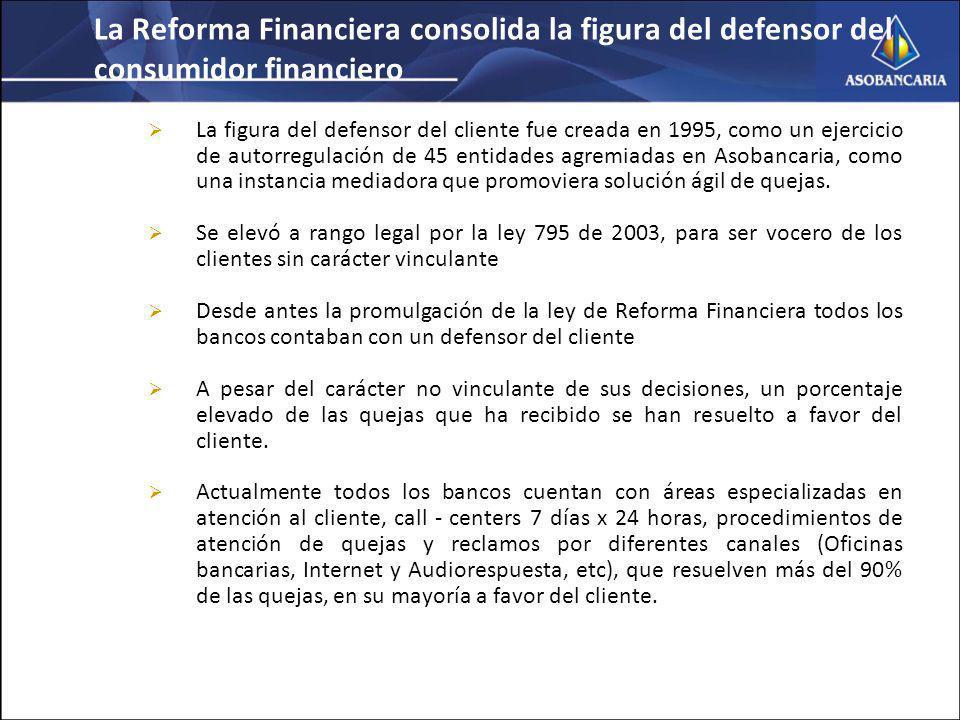 La Reforma Financiera consolida la figura del defensor del consumidor financiero