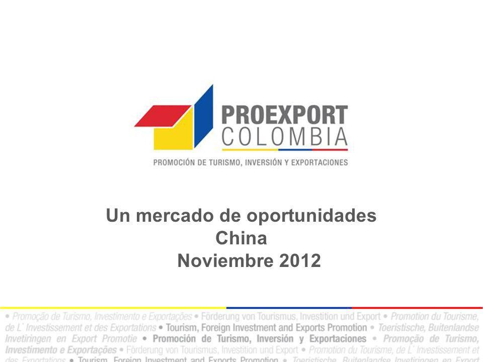 Un mercado de oportunidades China Noviembre 2012