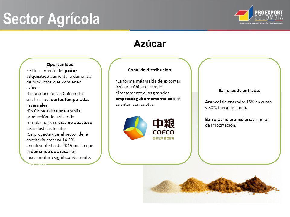 Sector Agrícola Azúcar Oportunidad