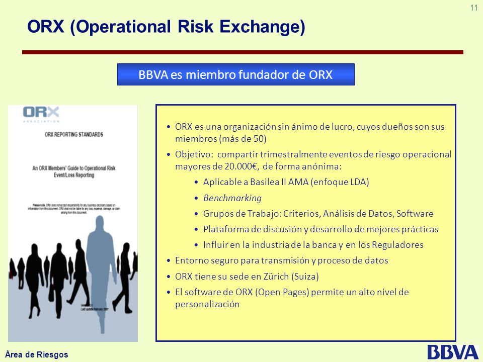 ORX (Operational Risk Exchange)