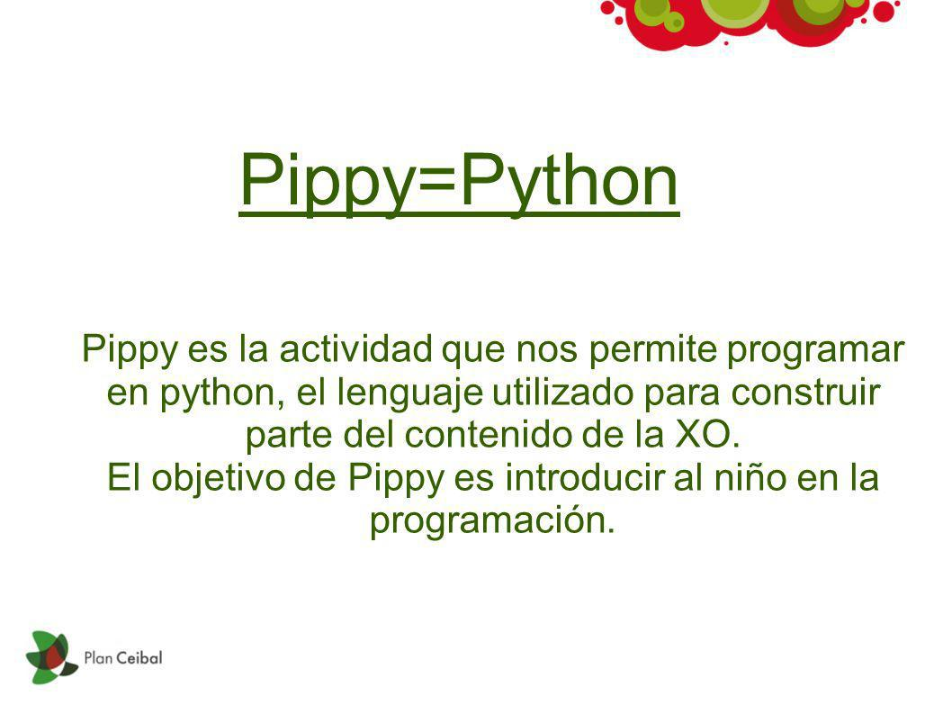 El objetivo de Pippy es introducir al niño en la programación.