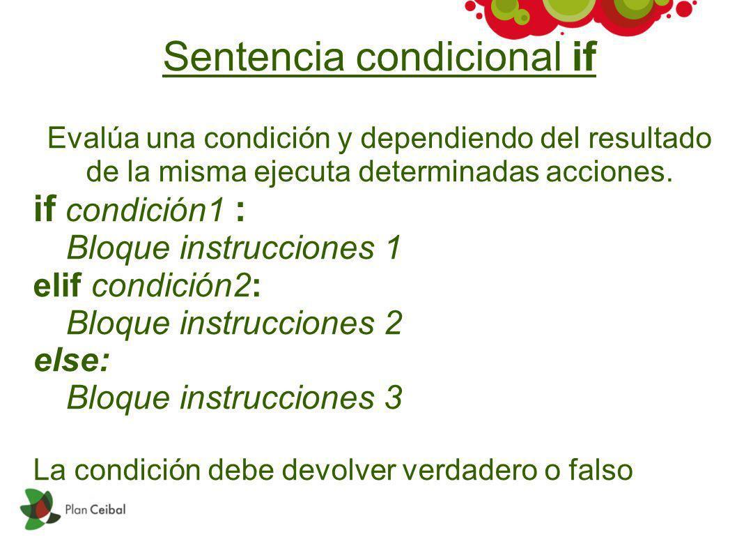 Sentencia condicional if