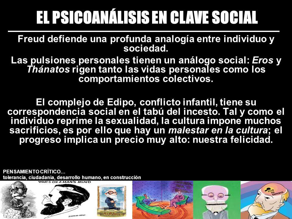 EL PSICOANÁLISIS EN CLAVE SOCIAL