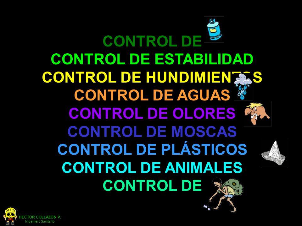 CONTROL DE ESTABILIDAD CONTROL DE HUNDIMIENTOS