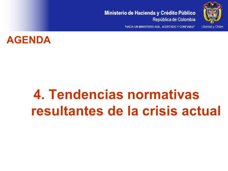4. Tendencias normativas resultantes de la crisis actual