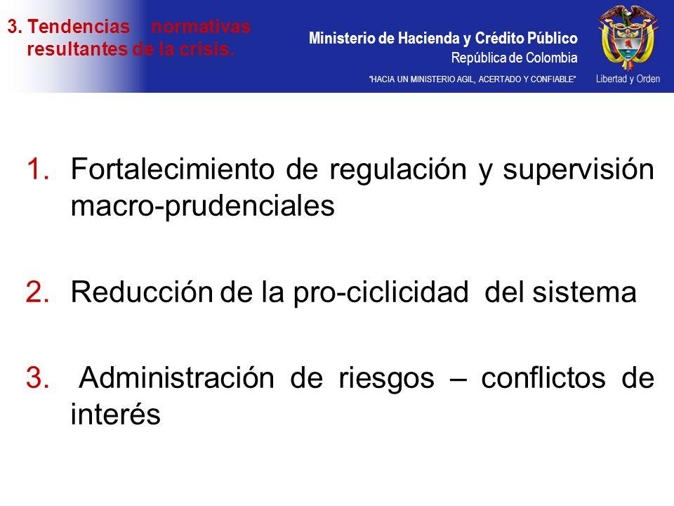 Tendencias normativas resultantes de la crisis.