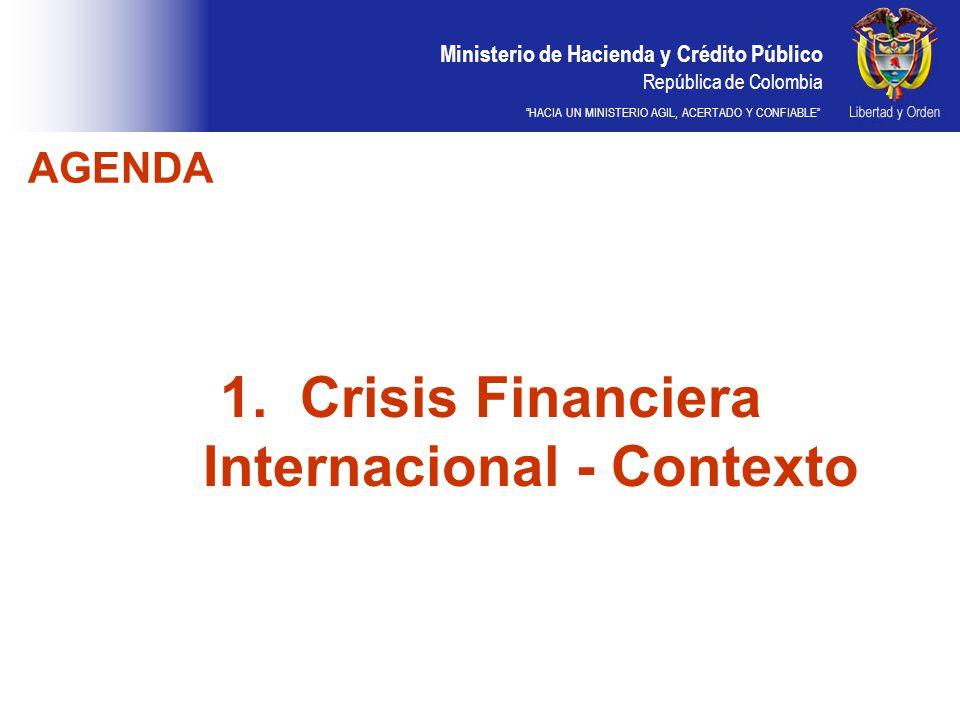 Crisis Financiera Internacional - Contexto