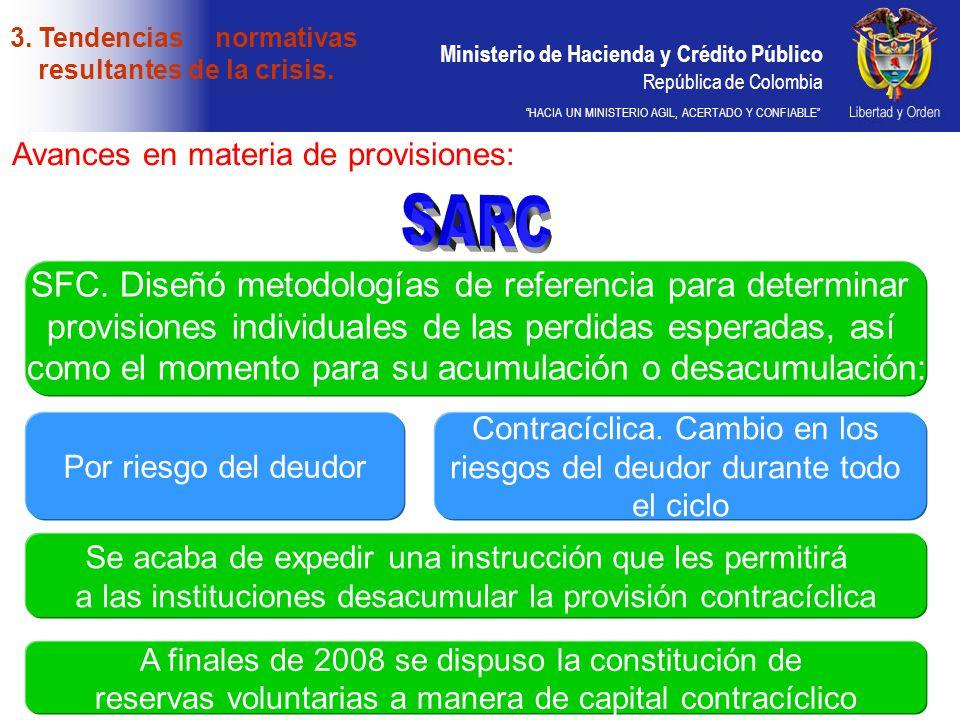 SARC SFC. Diseñó metodologías de referencia para determinar