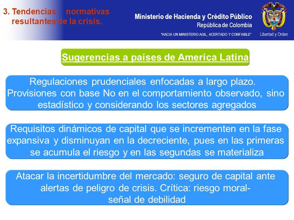 Sugerencias a países de America Latina