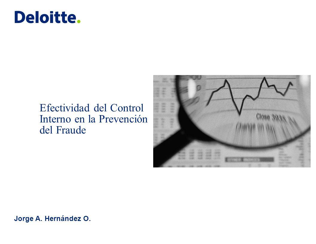 Efectividad del Control Interno en la Prevención del Fraude