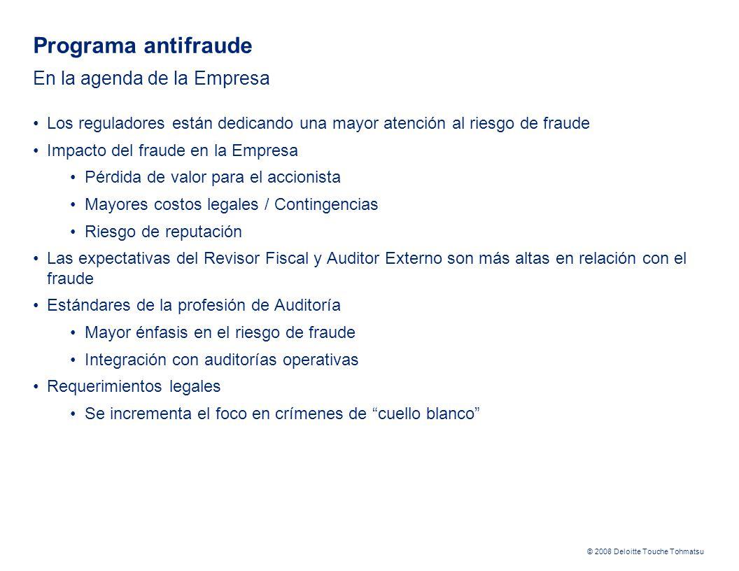 Programa antifraude En la agenda de la Empresa