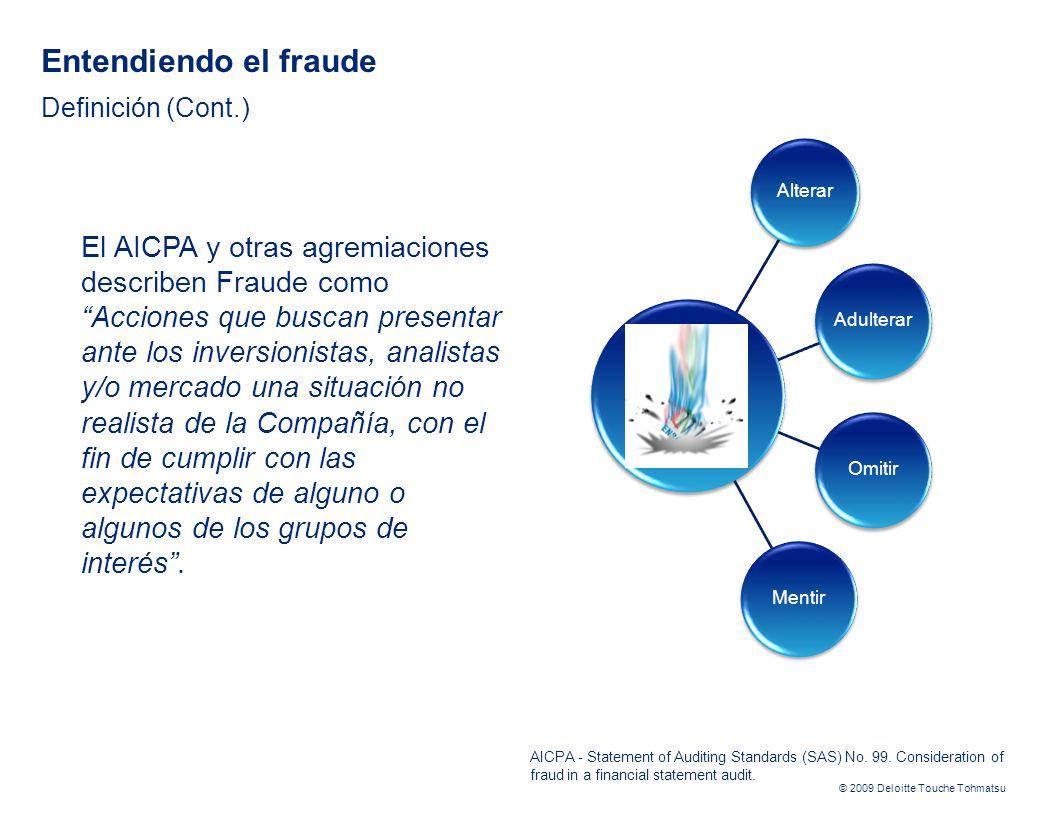 Entendiendo el fraude Definición (Cont.)