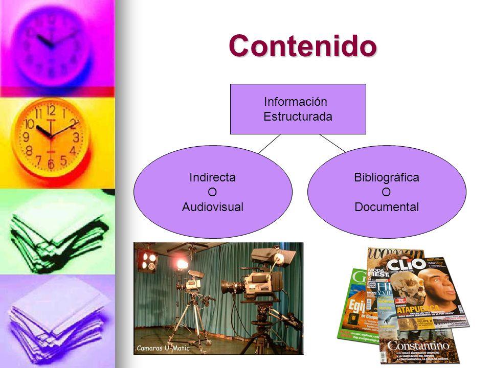 Contenido Información Estructurada Indirecta O Audiovisual